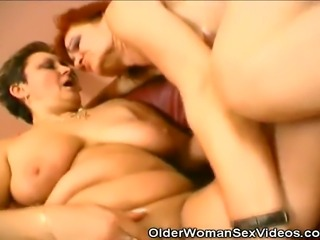 We have these two grannies in this clip taking turns on a horny stud. Watch as they switch places into riding that stiff hard cock