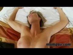 milf gets a big facial free