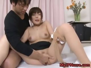Japanese female doctor gets some hot sex