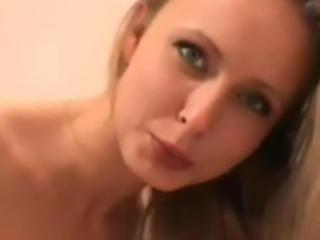 Super Hot Czech Chick Facialed