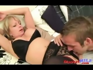 UK Mature MILF and Young Guy