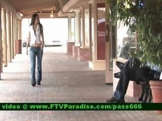 Mesmerizing Brunette Girl Tits Flashing In Public