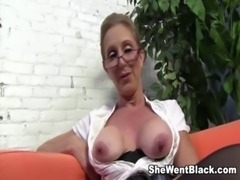 Sexy Cougar Jenna Covelli seduces two big black cock studs free