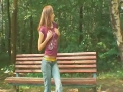 Ultra thin girlfriend in the forest free
