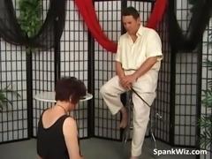 Slutty mature brunette gets big butt