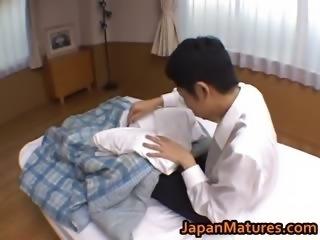Hitomi Kurosaki Mature Asian doll enjoys