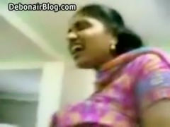 Booby Tamil babes big tits exposed and fondled and navel licked by lover free
