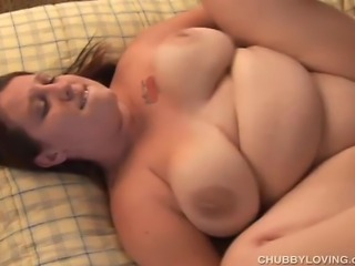 Beautiful BBW with lovely large tits enjoys a hard fucking and a big facial...