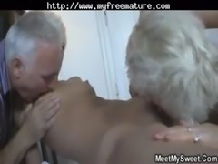Gf In Threesome With Her Bf Parents mature mature porn granny old cumshots...