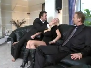 Male voyeur & female voyeur enjoy themselves when Vivian has a fuck on the...