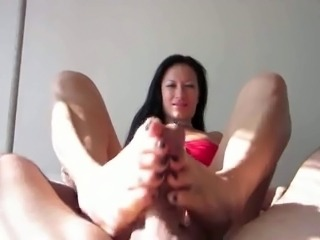 Footjob Leads To A Huge Cum Explosion