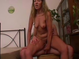 SEXY MOM n97 mature on a bed