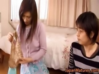 Japanese mature woman has cute