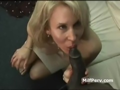 Hot boobs blonde MILF seduced by big young black cock free