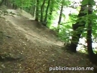 Real amateur sweetie fucked in the woods
