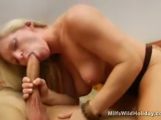 We have this lovely blonde MILF named Zia in this clip as she has taken in a...