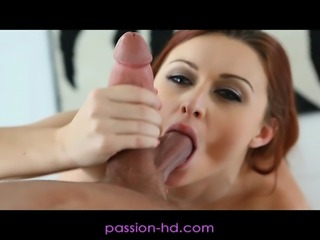 Slutty redhead babe loves to take the cock inside of her so she opens wide and has an orgasm!
