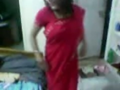 Red Saree College Girl sex with Boy Friend