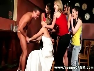 Femdom bride finds something she wants from her subject