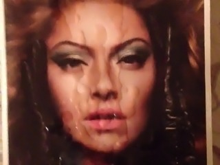 hadise turkish singer tribute cumshot