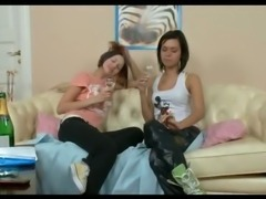 Real teen lesbian babes lick