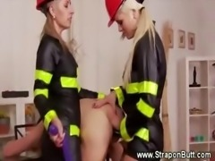 Vicious ladies pegging and trampling