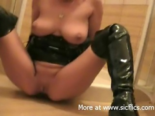 My slut wife is a filthy fist and piss whore