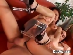 Horny beauty gets wet pussy and tight