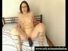 Jessica 42 years with her new Modern Huge Dildo free