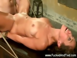 Bitch gets fucked then facial from her master