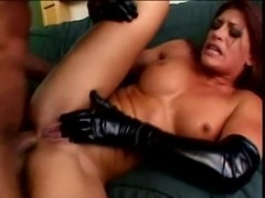 Hot MILF gets her tight asshole hammered by a huge dick free