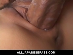 Sakurakos shaved pussy filled with jizz free
