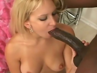 Big black cock interracial with hot blonde sex!