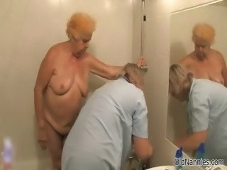 Dirty old woman goes crazy getting her part1