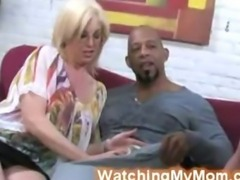 Tweety Valentine joins horny mom to suck black cock