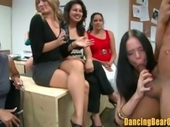 Jizz Hungry Office Girls Blowbang Strippers