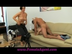 FemaleAgent Stud gets stage fright free