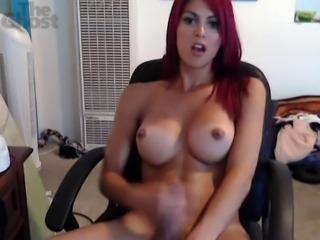 Sexy TS Masturbates