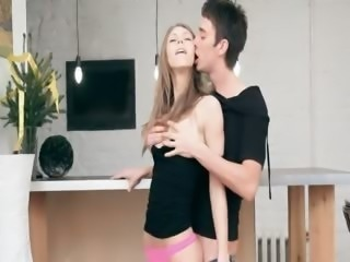 Extremely skinny model screaming sex