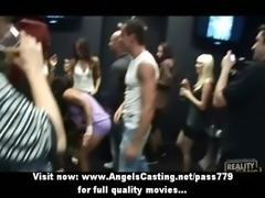 Hot amateur babes dancing at the club and having their pussy licked