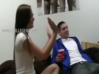 Nice college girls fuck from POV