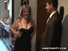 Busty amateur Milf sucks and fucks with cum on tits free