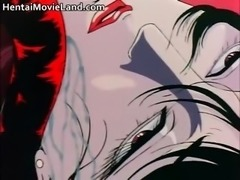 Horny anime babe sucks long tantacle part6