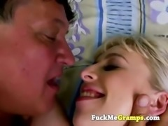 Grandpa his first pierced pussy