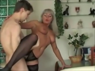 sexy Beautiful Mom & Boy