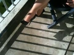 dutch mature sexy legs in heels