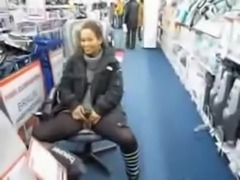 Cute milf pisses in the middle of a store free