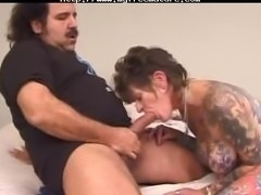 Ron Jeremy amp Tattoo Sue mature mature porn granny old cumshots cumshot