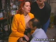 Redhead amateur Milf sucks and fucks with facial cumshot free