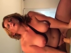 Chesty mature dildoing horny cunt free